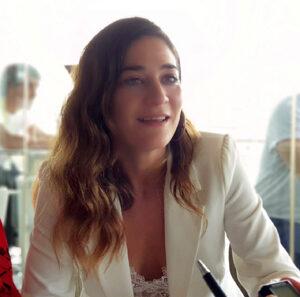 Tamara Casellas durante nuestra entrevista. Fotografía de Jose Vera.