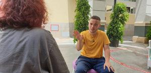 Ian de la Rosa durante nuestra entrevista Fotografía de Jose Vera.