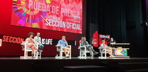 """Rueda de prensa de """"Life is live"""". Fotografía de Jose Vera."""